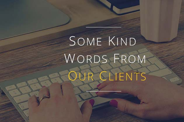 Feedback from our clients